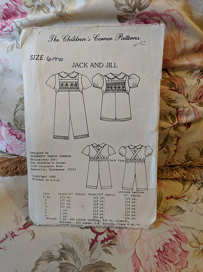 "Children's Corner ""Jack and Jill"" pattern"