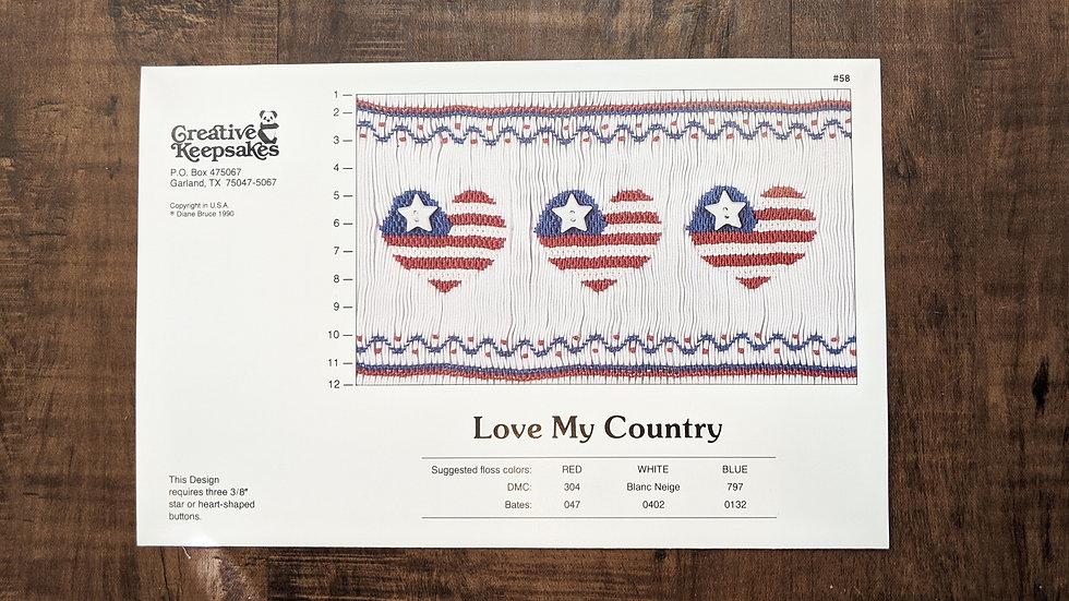 "Creative Keepsakes ""Love My Country"""