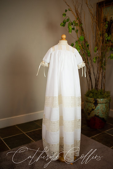 The Jordan Christening Gown with Pin Tucks