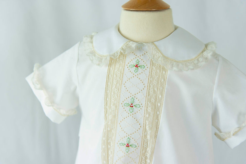 Swiss Embroidered Christmas Apron (Boy Version) ~~ $250