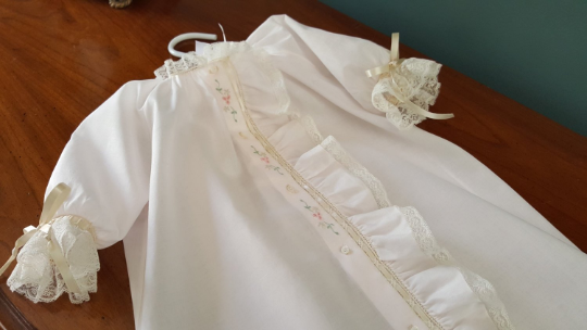 Day Gown with Fabric Placket Ruffle (Style #5)