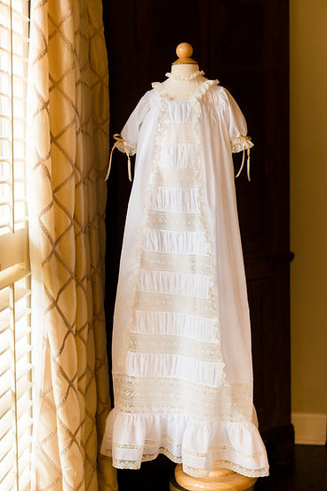 The Taylor Christening Gown with Center Panel