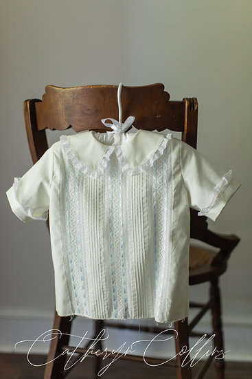 Ivory Overshirt with White French Maline Laces