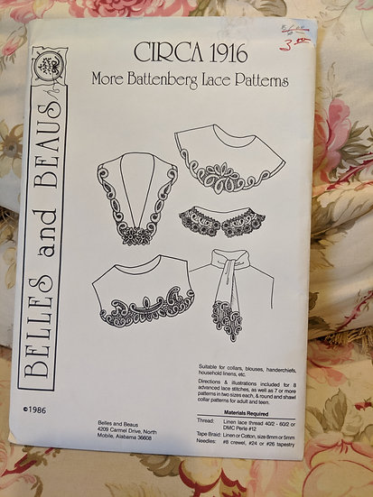 Belles and Beaus Circa 1916 More Batternberg Lace pattern