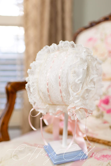 Double Ruffled All Lace T-cap ~~ $140