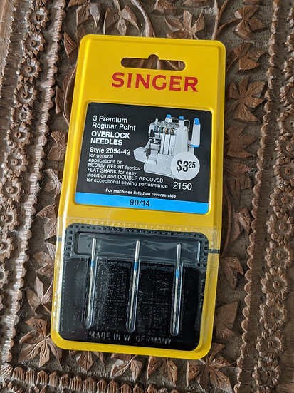 Singer Premium Regular Point Overlock 90/14 Needles