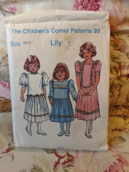 "Children's Corner ""Lily"" pattern"