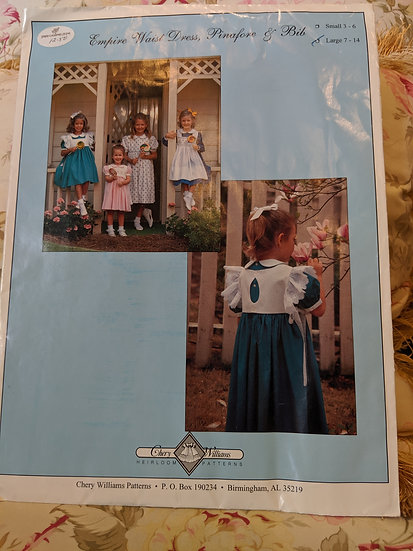 "Chery Williams ""Empire Waist Dress, Pinafore, and Bib"" pattern"