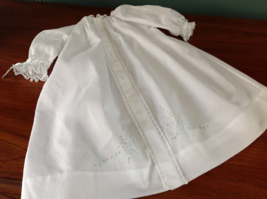 Front Opening Day Gown (Embroidery #2)