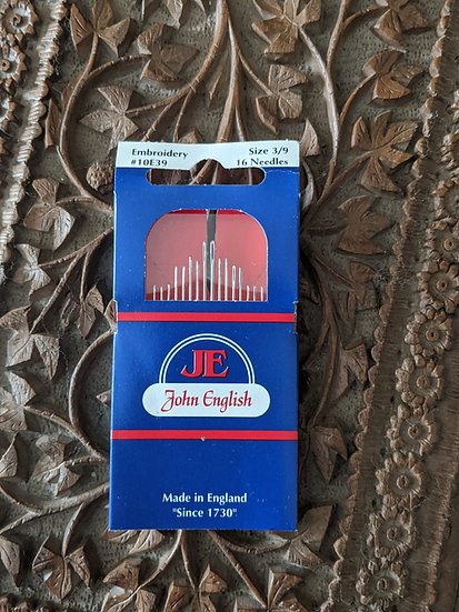 John English Hand Sewing Embroidery Size 3/9 Needles