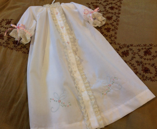 Day Gown with Shadow Stitched Bow