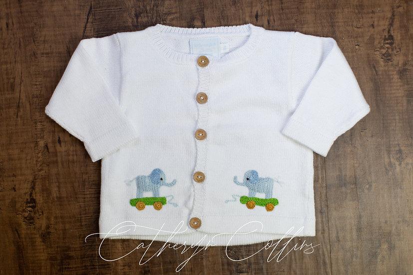 Little English Blue Elephant Sweater