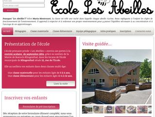Ouverture officielle du site www.ecolelesabeilles.fr