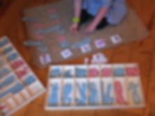 Un autre exemple de dictée muette à partir de l'alphabet mobile (pédagogie Montessori)