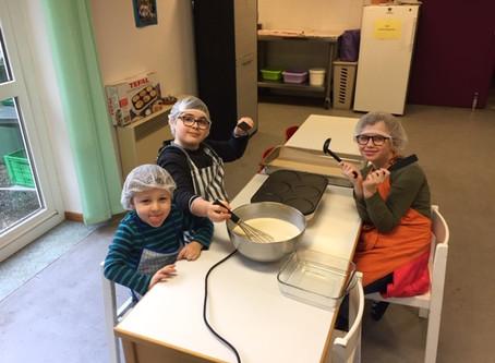 Atelier cuisine de la Chandeleur