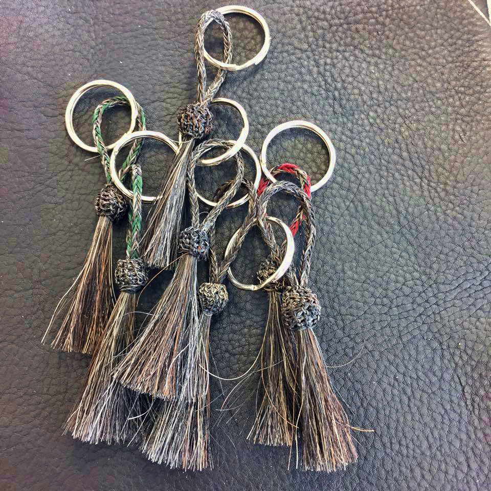 Horsehair Key Fobs