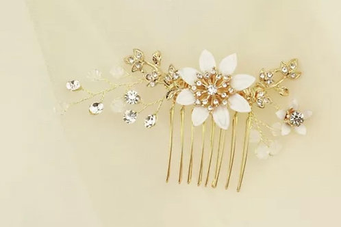 Nude Floral Hair Comb