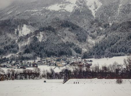 An affable walk in the magical snow - Kitzbuhel town, Austria