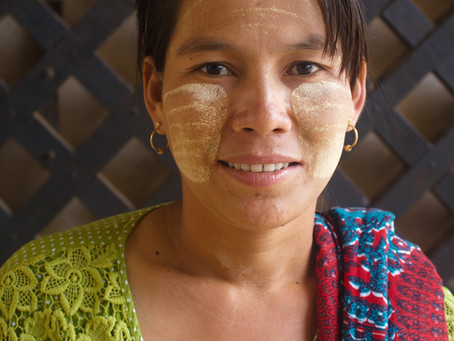 Thanaka, The skin conditioner - A household tradition in Myanmar.