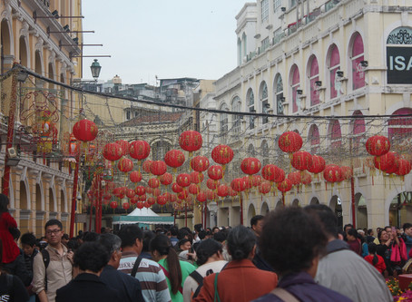 Throwing light on the celebration of Chinese New year in Grand Macau, China