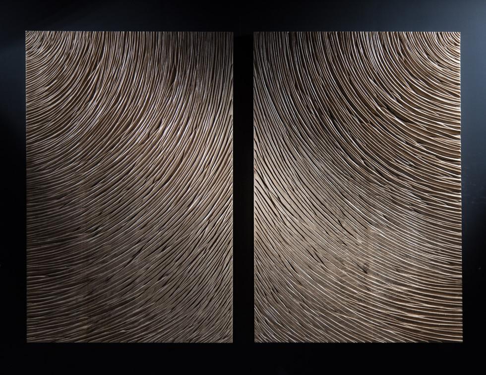 Dyptique en chêne (Oak) - 170cmx80cm