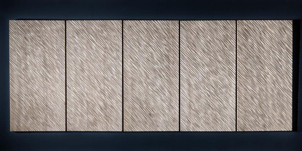 Polyptique en Chêne (Oak). 204x80cm