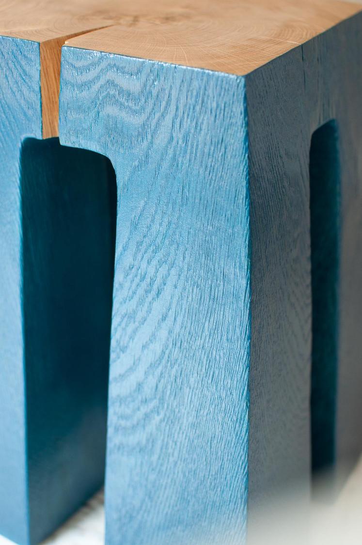 tabouret elephant bleu