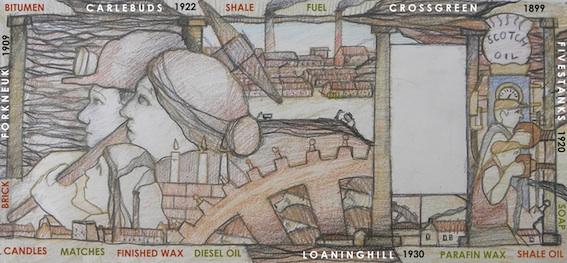 Shale Mural, Uphall, 2010