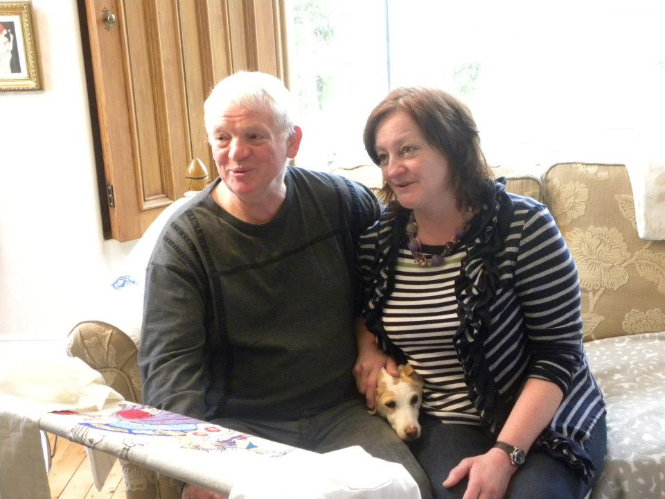 Lynne and Jim - a stitching team