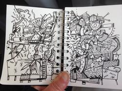 Sketch on a train