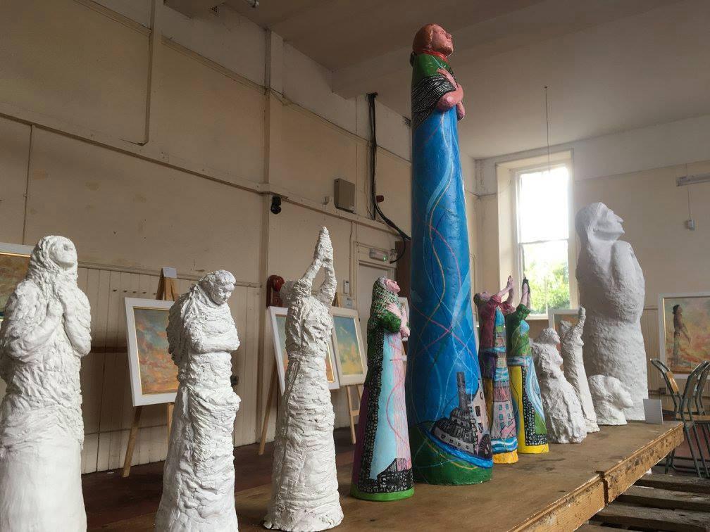 Sculpturesat an exhibition