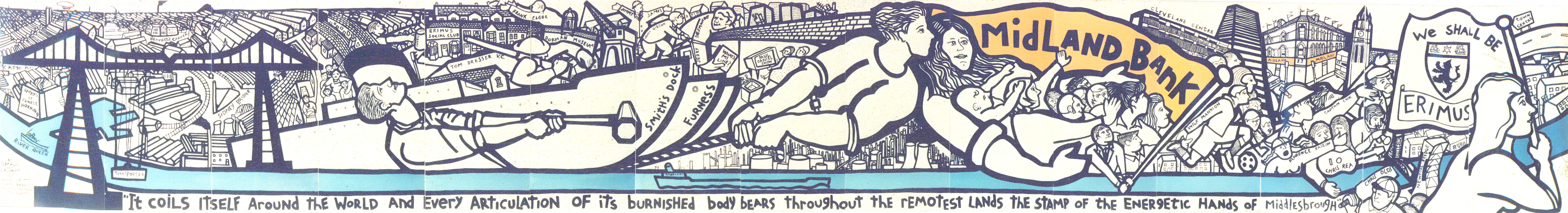 Middlesbrough mural 1988