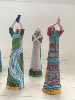 Women stitcher sculptures