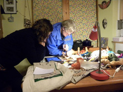 A workshop in a kitchen