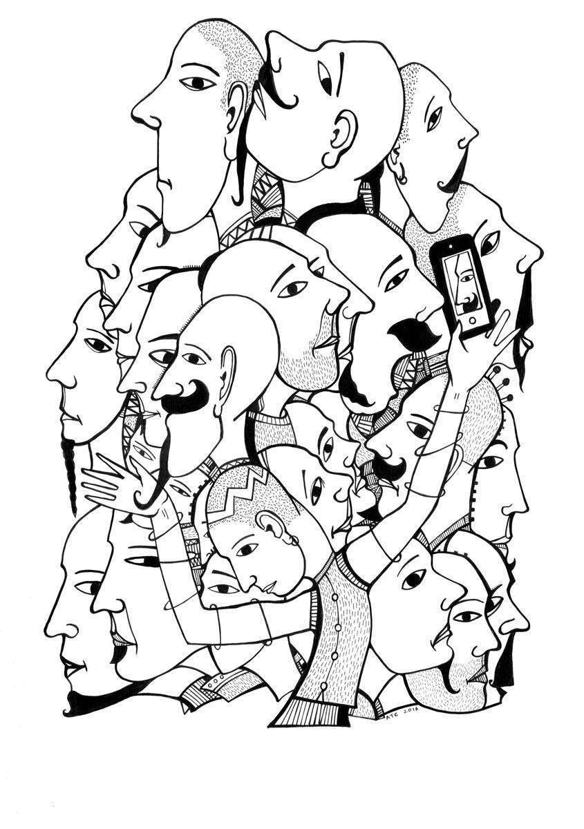 Baldmen selfies