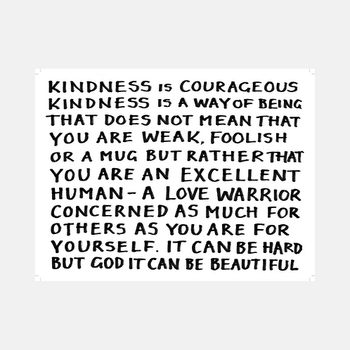 Kindness Is Courageous: Poster