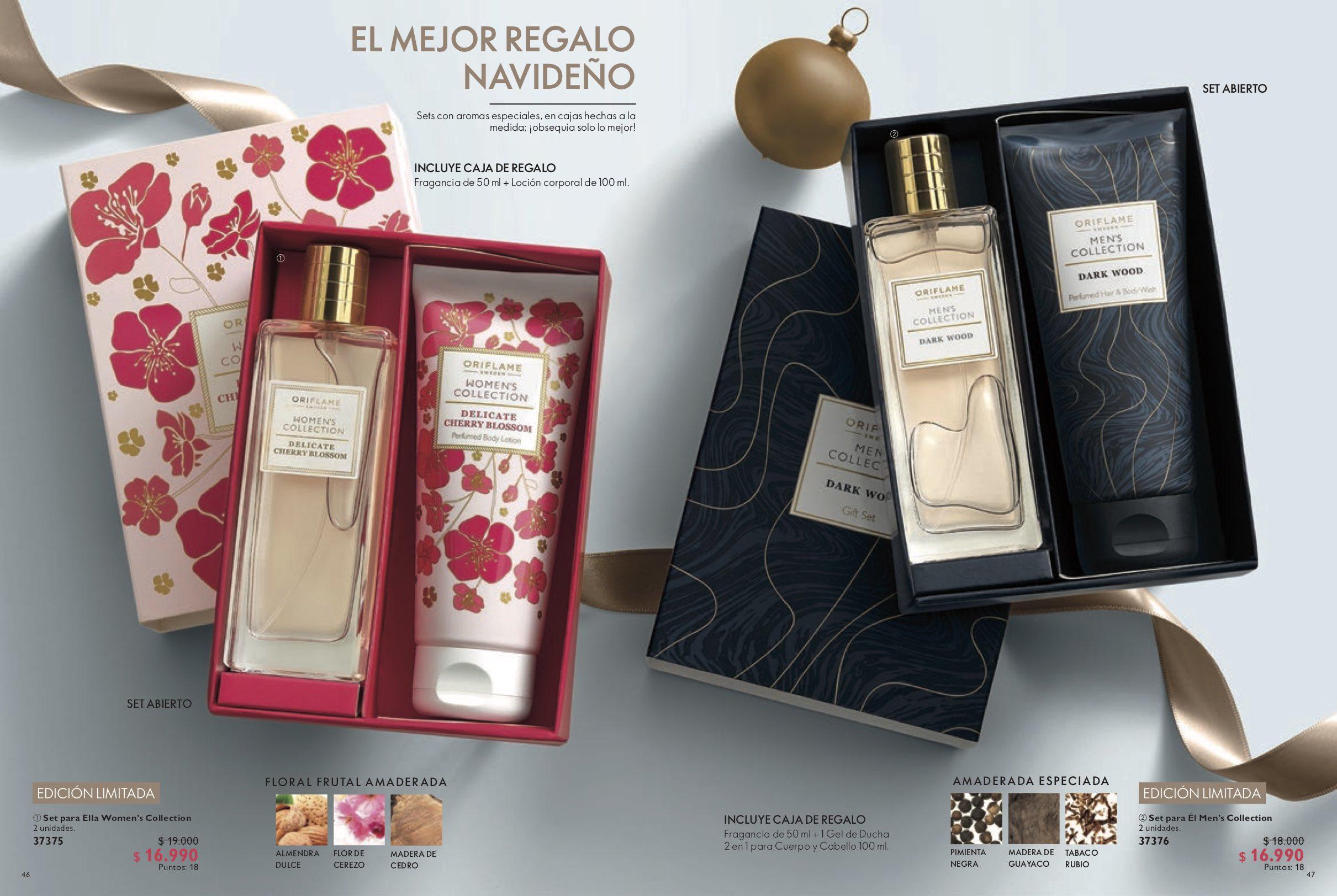 navidad perfume y crema