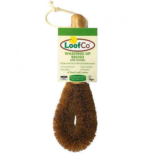 Coconut Fibre Dish Brush with Handle