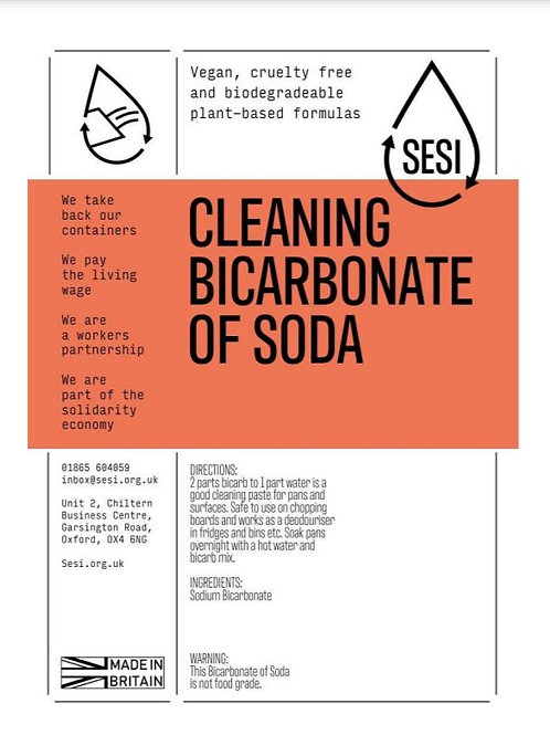 Bicarbonate of Soda £0.20/100g