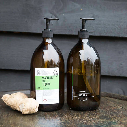 """Amber glass bottle """"Dishes"""" - 1000ml"""
