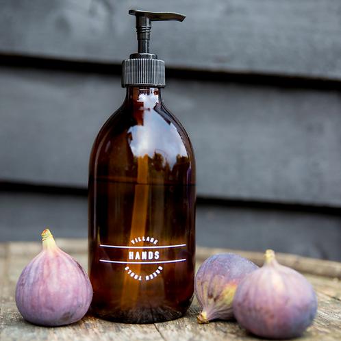 "Amber glass bottle ""Hands"" - 500ml"