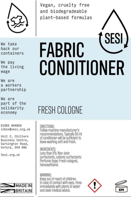 Fabric Conditioner - Fresh Cologne  £0.40/100ml