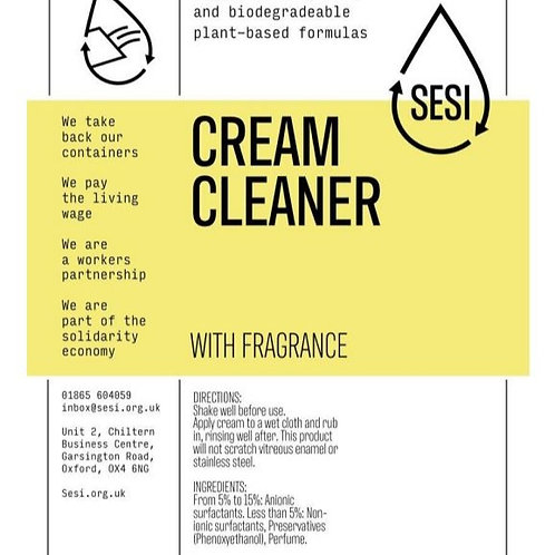 Cream Cleaner - with Fragrance  £0.50/100ml