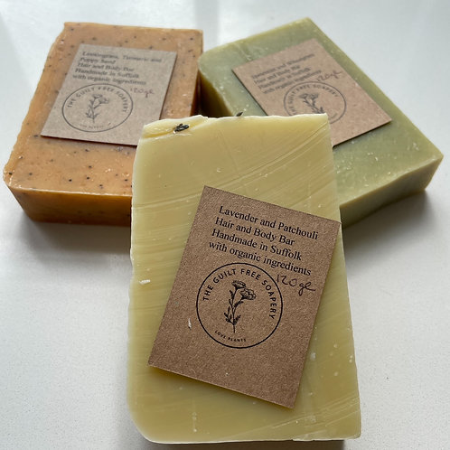Guilt Free Soapery - Solid Soap Bars 120g (3 varieties available)