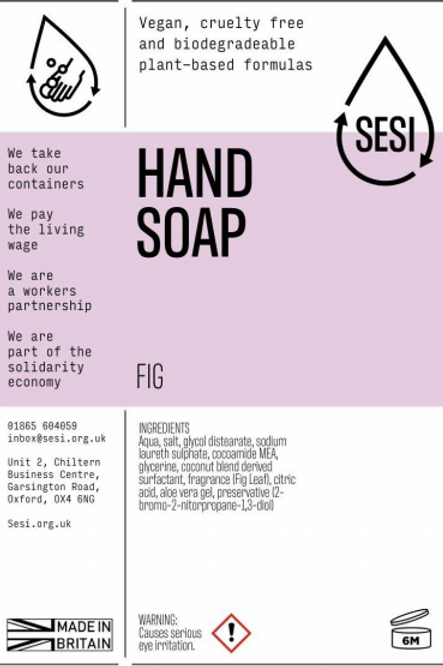 Hand Soap - Fig £0.80/100ml