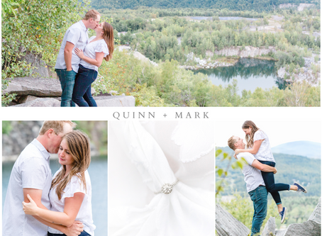Quinn and Mark's Millstone Trails Engagement Session