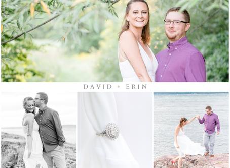 David and Erin's Shelburne Engagement Session