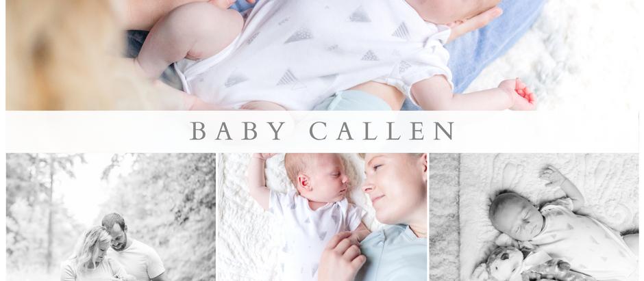 Vermont Newborn Photos with Baby Callen