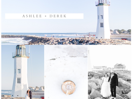 Ashlee + Derek's Scituate Lighthouse Elopement