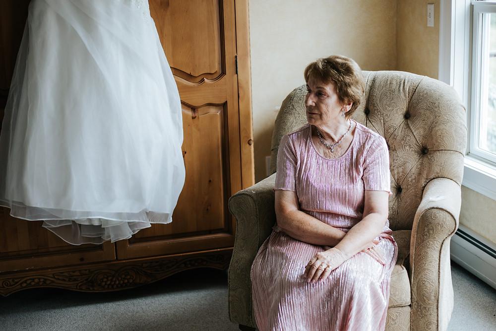 Grandma and dress